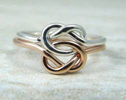 knot promise ring infinity knot ring recycled sterling silver promise ring