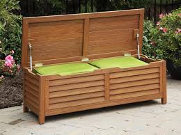 Storage Bench With Cushion Attractive Patio Furniture Storage Bench Outside Bench With