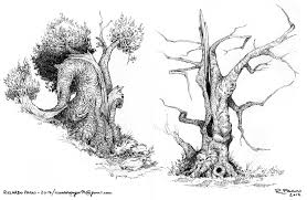artstation trees u0026 corals sketches riccardo pagni