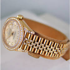 rolex bracelet diamonds images Rolex lady datejust gold silver diamond 69158 jubilee watch chest jpg