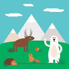 free vectors vector illustration of cute north animal set for