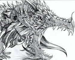 pencil drawing dragon free download detailed dragon drawing