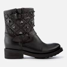 black biker boots ash women s trone leather studded biker boots black free uk