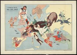 World War 1 Map Of Europe Cartoon Maps Bodleian Map Room Blog