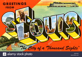 greetings from st louis the city of a thousand sights postcard
