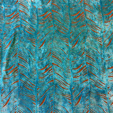 peacock turquoise peacock plume luxurious cut velvet turquoise blue heavy velvet
