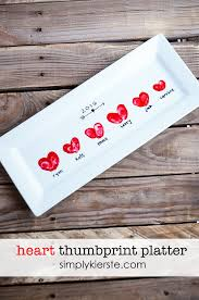 heart thumbprint platter you ve gift and craft