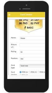 card creator ultimate for fifa app ranking and store data app