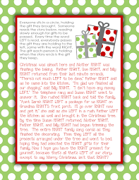gift exchange story printable what a great idea for a family