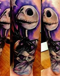 nightmare before christmas tattoo design