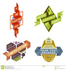 futuristic style set of vector logo retro ribbon labels and futuristic style