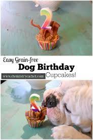grain free dog birthday cupcakes