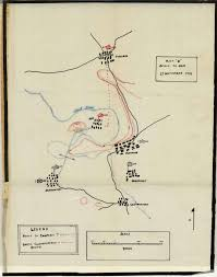 Map A Route by Battle Narrative 134th Infantry Regiment Compan F