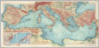 World Atlas Maps by Mediterranean Sea Pergamon World Atlas David Rumsey Historical