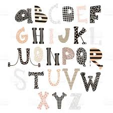abstract stylish alphabet creative kids font great for education
