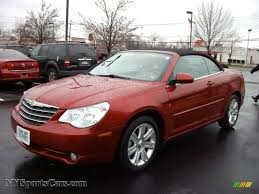 2010 chrysler sebring touring convertible in inferno red crystal