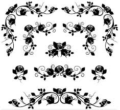 ornamental floral elements 13 ai format free vector