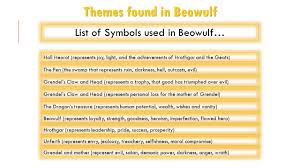 theme line yellow claw symbolism and theme in beowulf review theme the author s comment