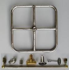 gas pit glass 12 ss square pit ring kit burner gas pit glass