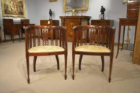 Old Fashioned Bedroom Chairs by Pair Of Mahogany Inlaid Edwardian Period Antique Bedroom Chairs At