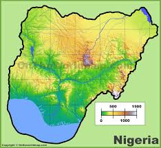 Map Of The United States With Landforms by Nigeria Physical Map