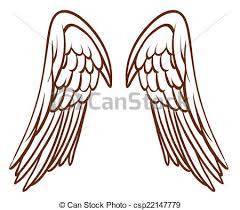 vectors illustration of a simple sketch of an angel u0027s wings