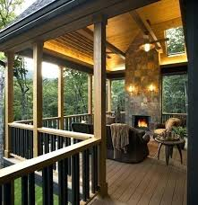 fabulous porch fireplace porch with fireplace screened porch