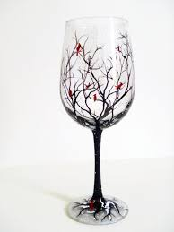 unique shaped wine glasses painting on glass personalized wine glasses glass painting