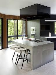 Stools For Kitchen Island Kitchen Black Kitchen With Unique Concrete Kitchen Island And