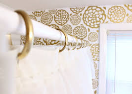 Gold Curtain Rings Gold Glam Bathroom Makeover Shower Curtain Ring Gold And
