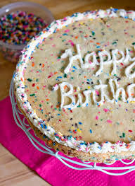 birthday cookie cake erica s sweet tooth funfetti cookie cake