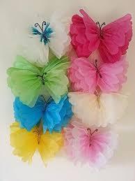 Famosos Borboletas feitas com papel de seda - DIY   Pinterest   Craft  #RM42