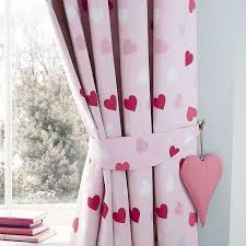 dunelm hearts blackout lining pink kids loveable eyelet curtains