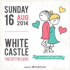 invitation card cartoon design wedding card cartoon style vector free download