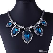 vintage blue stone necklace images Fashion jewelry 2016 vintage necklaces gem stone choker necklace jpg
