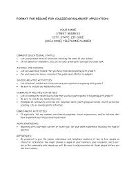 application resume format college application resume sles