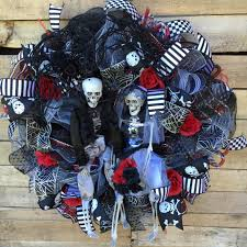 Halloween Door Wreaths Halloween Wreath Front Door Halloween Wreath Bride And Groom
