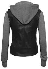 womens motorcycle jacket women u0027s zip up faux leather motorcycle jacket with inset fleece