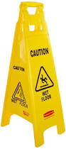 Slippery Floor Rubbermaid Commercial Caution Wet Floor Safety Sign Multi Lingual