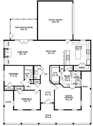 3 Bedroom House Design 653881 3 Bedroom 2 Bath Southern Style House Plan With Wrap