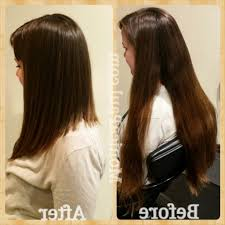a line haircuts for long hair cut the back of long hair in a u