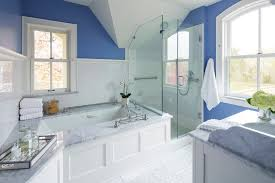 marble shower base bathroom traditional with chandelier medium