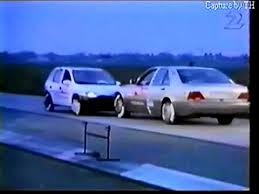 this mercedes versus opel corsa in epic slow motion crash test is