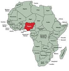 Blank African Map by Map Of Africa Showing Nigeria Deboomfotografie