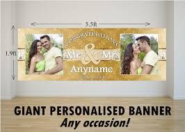 wedding congratulations banner personalised large congratulations wedding engagement
