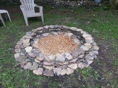 Rock Firepit River Rock Pit Actually Realistic How Cool Would This Be