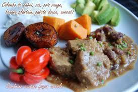 cuisiner du cabri colombo de cabri sandrine cuisine façon créole