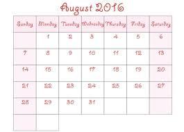 august 2016 calendar cute august 2016 calendar image 4564774
