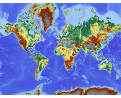 Topography Map World Topographic Map My Blog