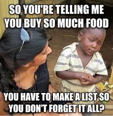Grocery Meme - grocery lists meme guy
